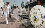 The Royal Navys second most senior admiral visited UK ships deployed to the Gulf