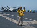 First Royal Navy sailor qualifies to move aircraft on US carrier
