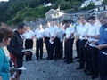 Cornish beach baptism for Royal Navy recruits