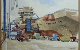 Royal Society of Marine Artists paint HMS Queen Elizabeth
