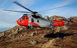 Navy helicopter airlifts man from roof of Castle Stalker