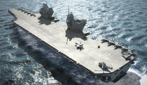 Power to Queen Elizabeth – mighty engines are installed on future carrier