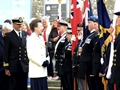HMS King Alfred Joins HRH Princess Royal at shipping festival service in Winchester
