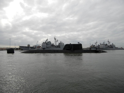 Astute on show in the world's biggest naval base