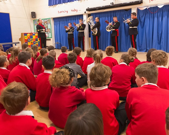Royal Marines Band Collingwood spread Christmas cheer to local schools