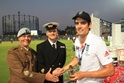 Winning times for service cricket stewards