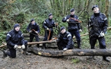 Trainee Submariners Clear Woodland Paths
