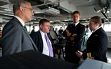 HMS Bulwark supports minister for the armed forces on visit to Libya