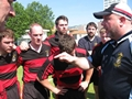 HMS Talent v Charles de Gaulle Rugby Match