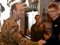 HMS Richmond embarks Commander British Forces