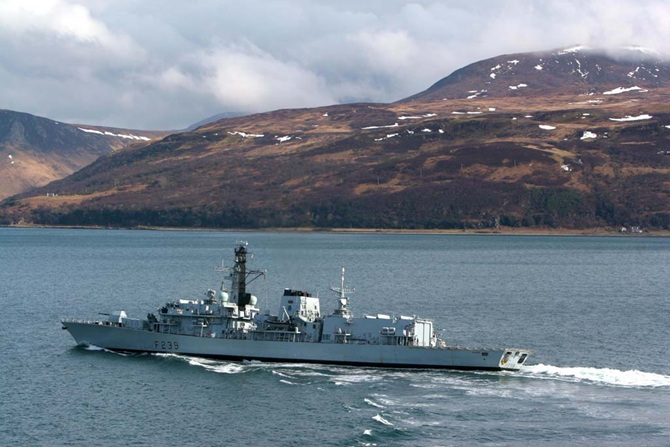HMS Richmond supports Joint Warrior