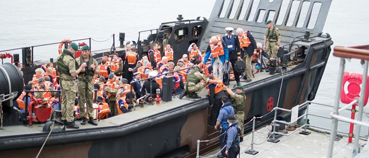 HMS Montrose families and affiliates day