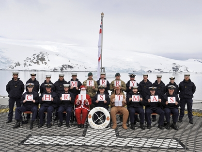 HMS Protector Christmas greeting
