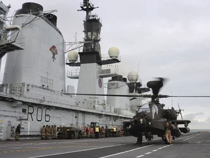 Apache on board HMS Illustrious