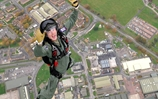 Sea King pilot makes 'mind-blowing' parachute jump over Yeovilton