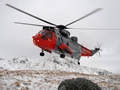 Royal Navy helicopter mountain rescue