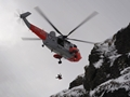Navy SAR helicopter airlifts Glencoe climbers