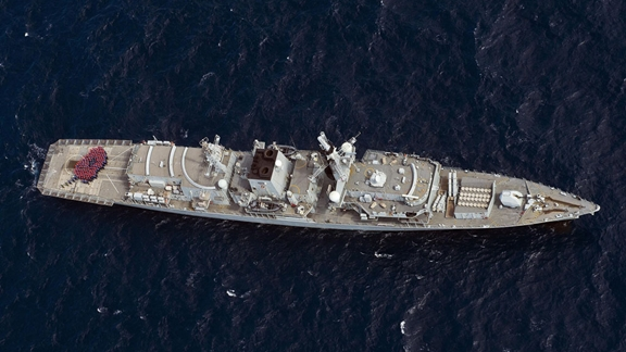 HMS Lancaster wears her poppy with pride