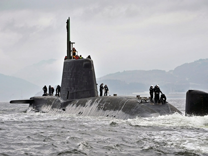 HMS Astute returns to Clyde