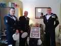Severn's sailors present medals to WW2 hero