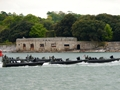 Royal Marines raiders swarm up the Tamar