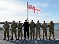 Army and RAF experience life on board navy ship
