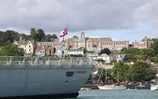 HMS Somerset visits Dartmouth to mark 150 years of training officers