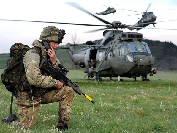 45 Commando Royal Marines taking part in the Joint Warrior exercise