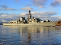 HMS Lancaster leaves Portsmouth for North Atlantic