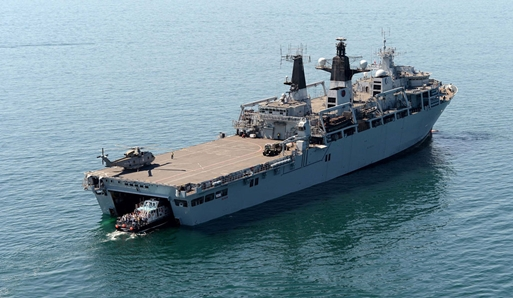 Liberty Lass and HMS Bulwark