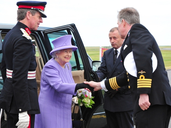 The Queen and the Duke of Edinburgh visit Culdrose