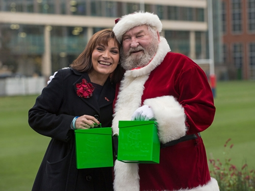Lorraine with Father Christmas Photo: MoD