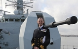 South Wales Royal Navy commanding officer brings his own ship into Cardiff