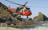 Search and rescue squadron working with local RNLI lifeguards