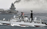 HMS Liverpool Escorts the Russians