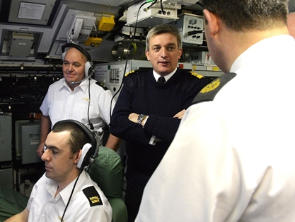 Royal Navy's New Fleet Commander Meets Submarine And Warship Crews