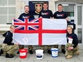 Royal Navy Medics Stretcher Trek Finish