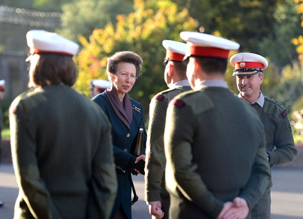 Princess Royal visit Royal Marines Bands Service