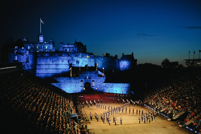 Royal Marines Band at the Edinburgh Military Tattoo