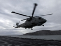 HMS Somerset Welcomes Helicopter Onboard