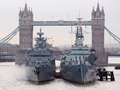 German frigate visits London