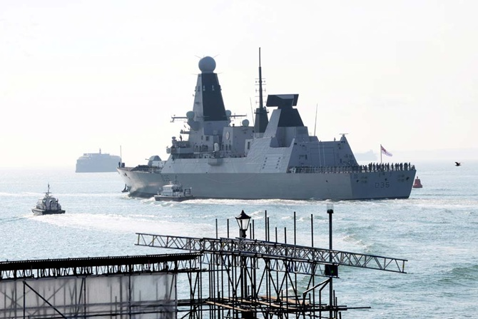 HMS Dragon Sails on her first Opeartional deployment