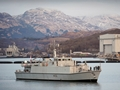 HMS Penzance heads out for duties in the Mediterranean